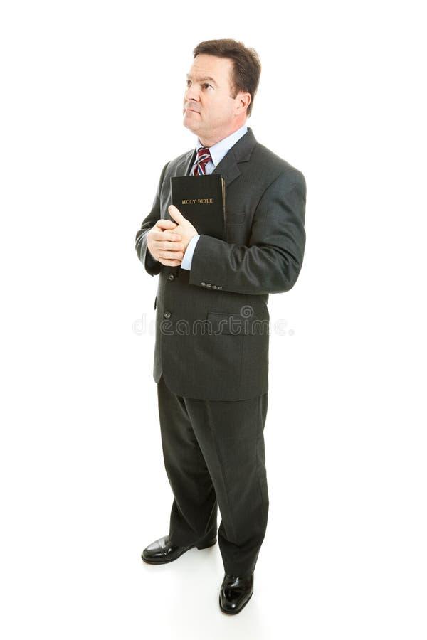 Predicatore o uomo d'affari pio fotografie stock libere da diritti