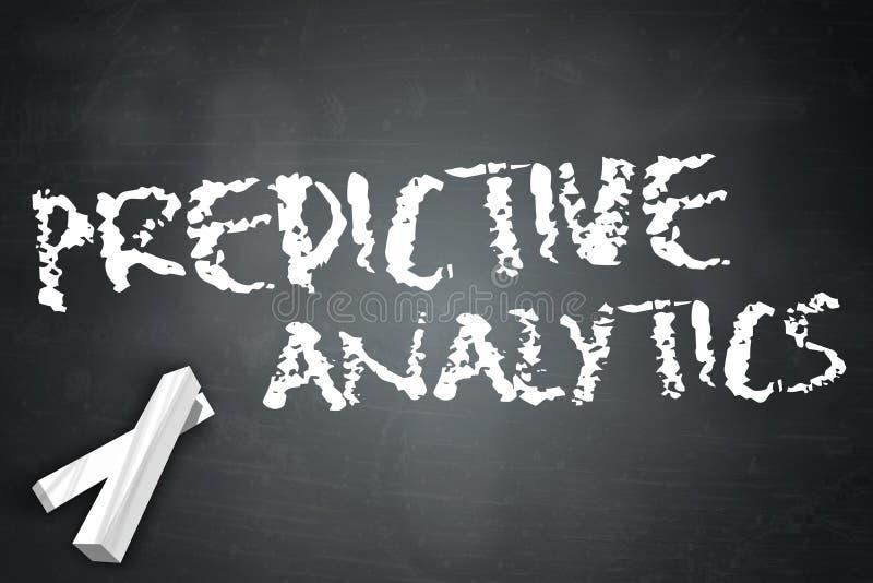 Predictive Analytics för svart tavla stock illustrationer