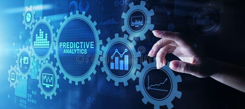 Predictive internet f?r intelligens f?r aff?r f?r analyticsBig Data analys och modernt teknologibegrepp p? den faktiska sk?rmen royaltyfria foton