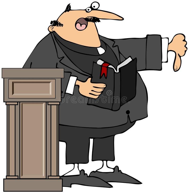 Prediker die Duim-Thumbs-Down geeft royalty-vrije illustratie