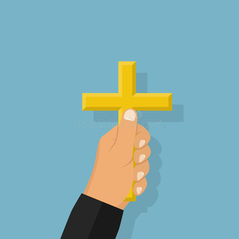 Prediker, een mens die gelooft stock illustratie