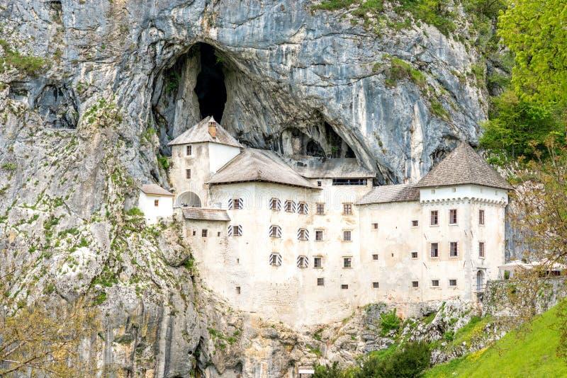 Predjama castle in Slovenia stock images