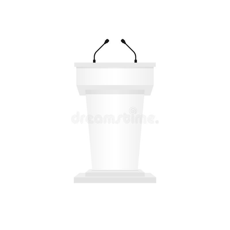 Preekstoelpodium vector illustratie