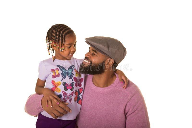 Preescolar y papá lindos fotografía de archivo