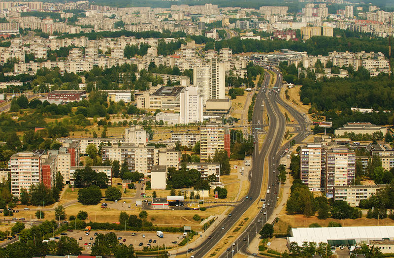 Prefabhuizen in Vilnius, Litouwen royalty-vrije stock foto