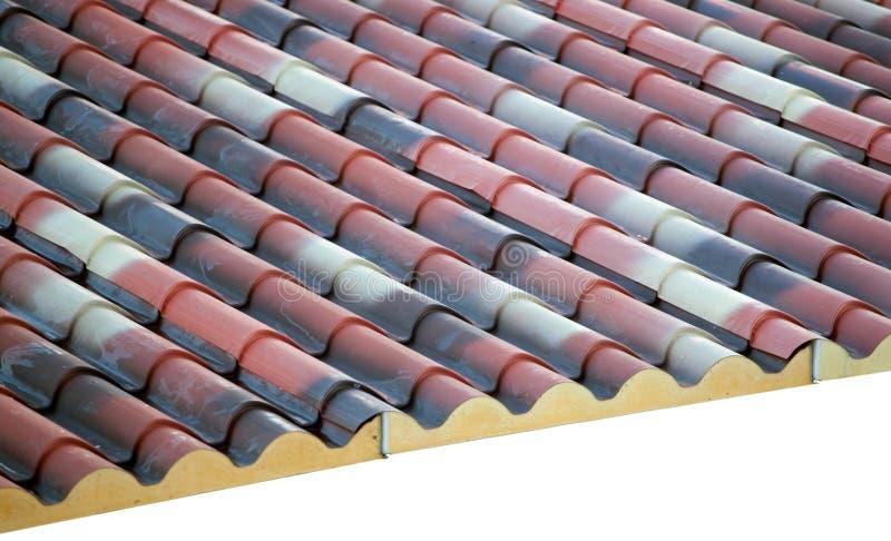 Prefabricated roof polyurethane foam royalty free stock photo
