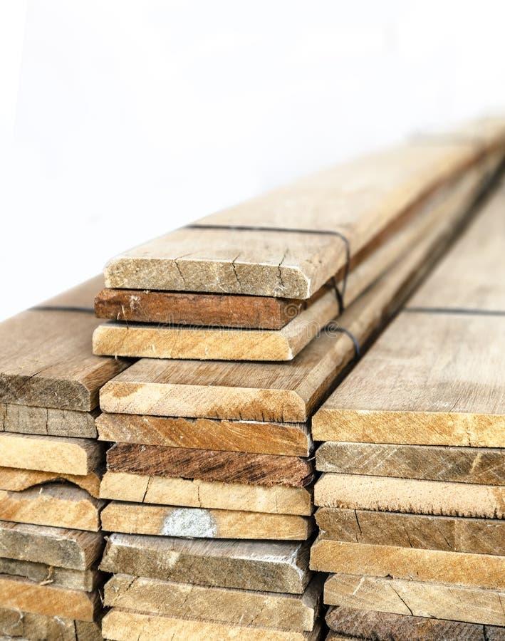 Prefabricated slat stacked ready use. Closeup isolated Prefabricated slat stacked ready use stock photography
