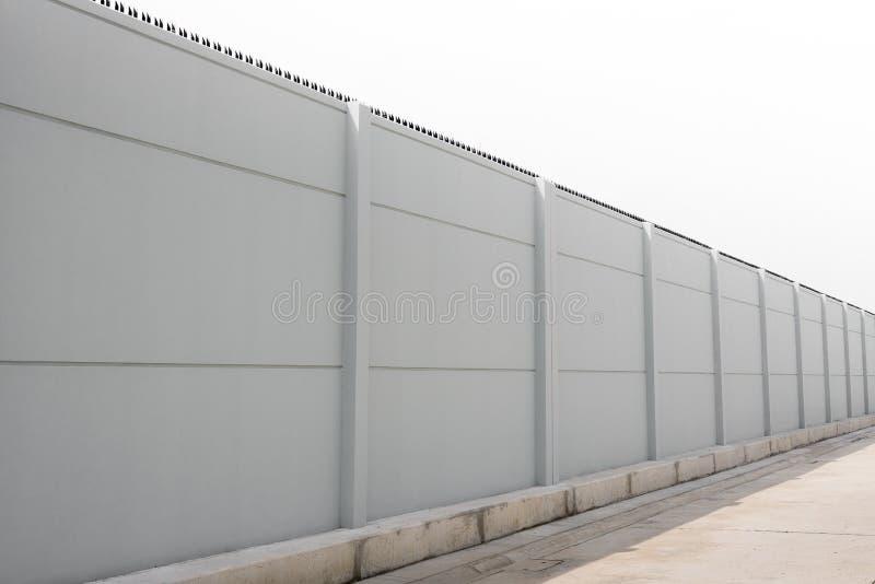 Prefabrykacyjny betonu ogrodzenie obrazy royalty free
