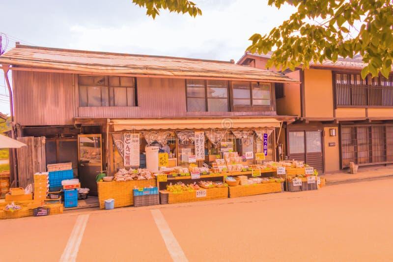 Prefectura de Nagano, JAPÓN - 3 de septiembre de 2017: Tiendas tradicionales a fotos de archivo