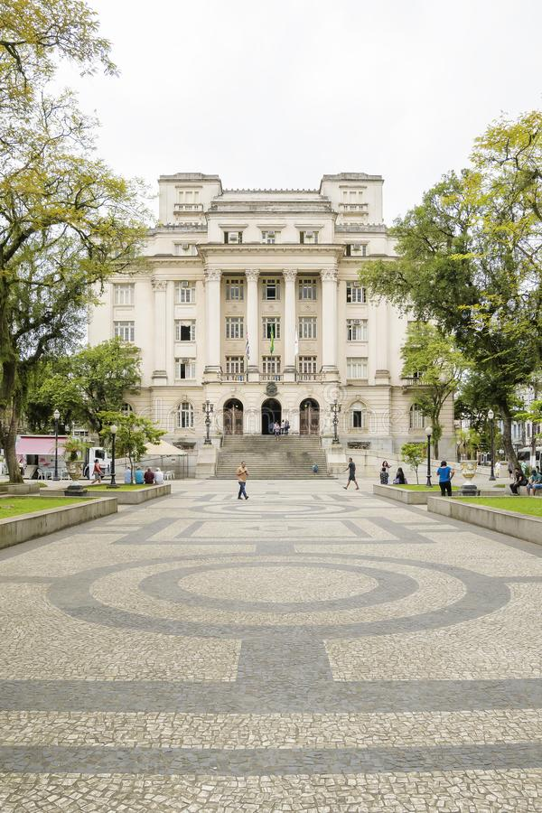 Prefecture of Santos at Maua Square. Santos - SP, Brazil - November 18, 2019: Prefecture of Santos at Maua Square, historic center of the city. Municipal city stock photography