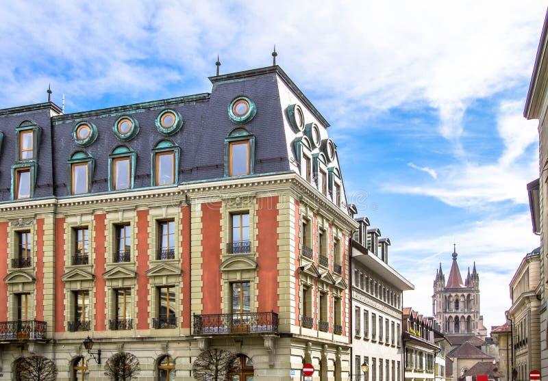 Prefectuur in de Oude Stad Lausanne stock fotografie