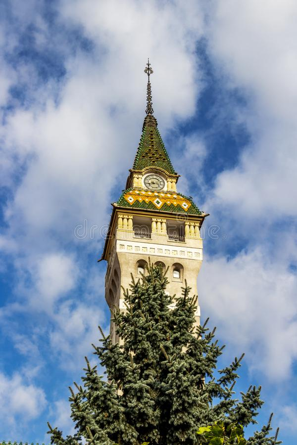 Prefectuur van Mures in Targu Mures, Roemenië stock fotografie