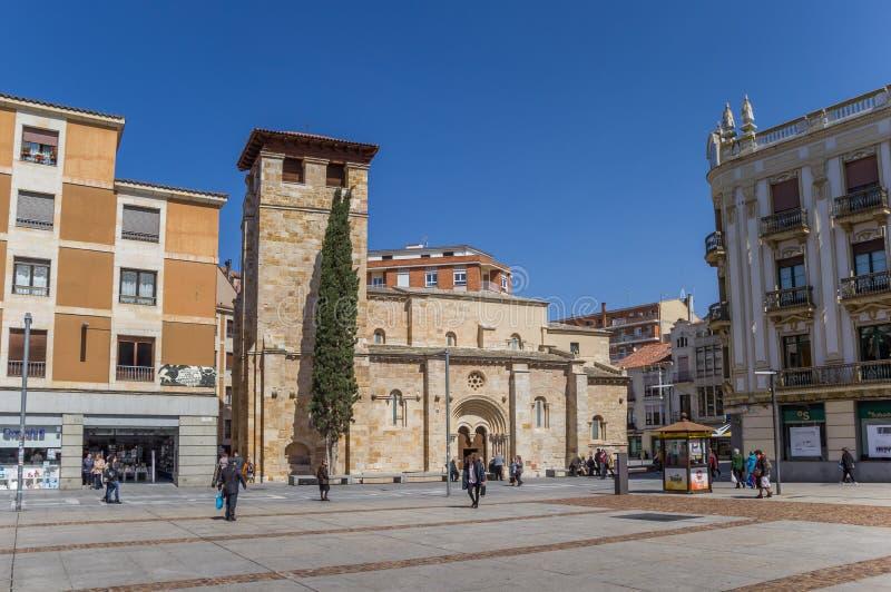 Prefeito da plaza no centro histórico de Zamora fotos de stock