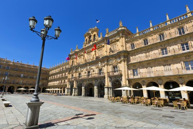 Prefeito de Salamanca da plaza (Salamanca Major Square), Salamanca, Espanha imagens de stock