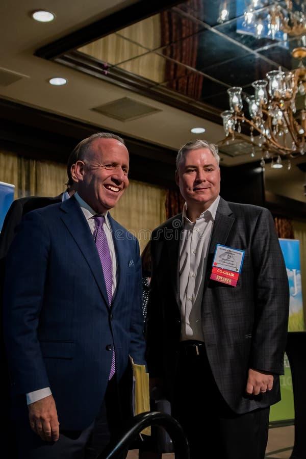 Prefeito-eleja Darrell Steinberg na conferência 2016 de SEJ fotos de stock