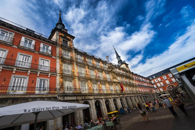 Prefeito Madrid Spain da plaza imagem de stock