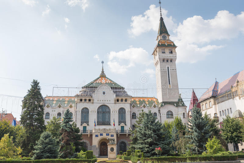 Prefeitura de Targu Mures imagem de stock