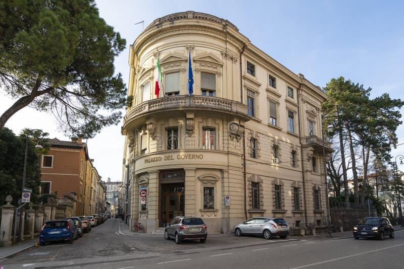 Prefektura pałac w Udine zdjęcia stock