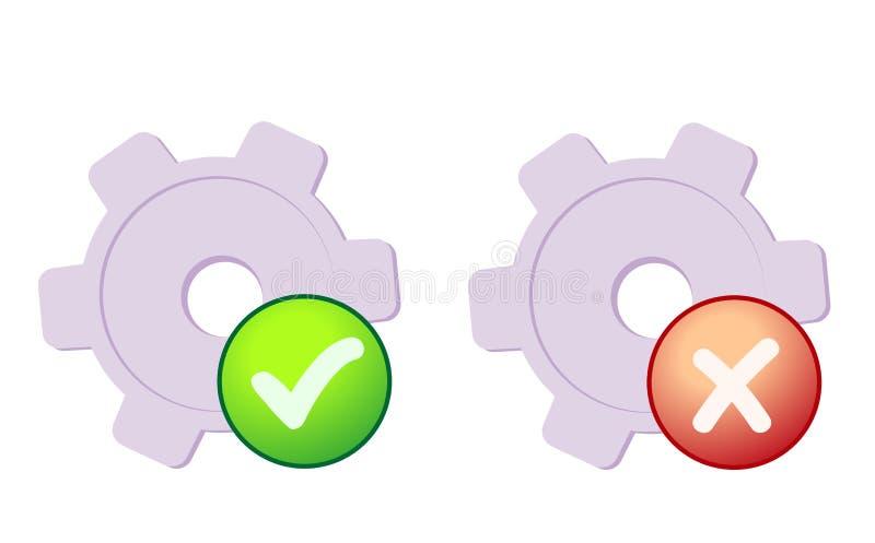 Preferências do sistema ilustração do vetor