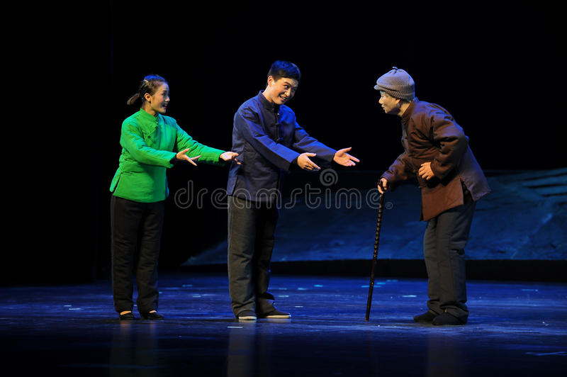 Preferential treatment of the elderly- Jiangxi opera a steelyard. Jiangxi opera a steelyard is adapted from a true story: the last century fortys, the royalty free stock image