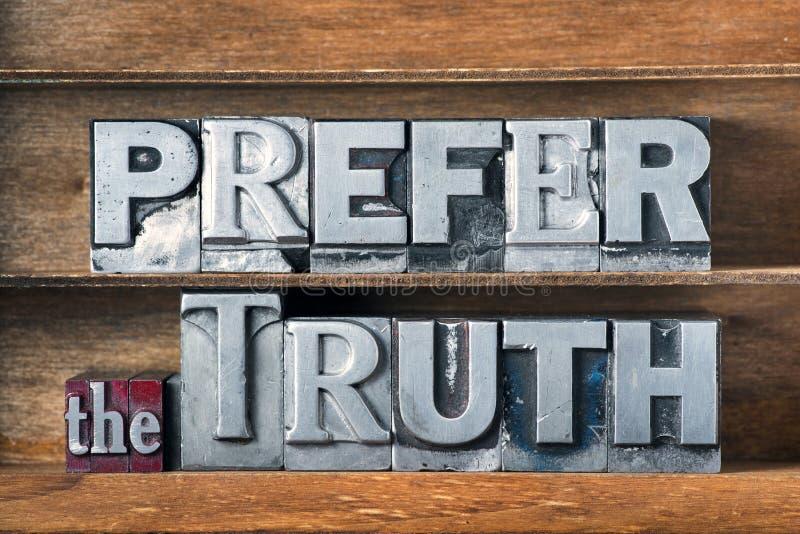 Prefiera la bandeja de la verdad imágenes de archivo libres de regalías