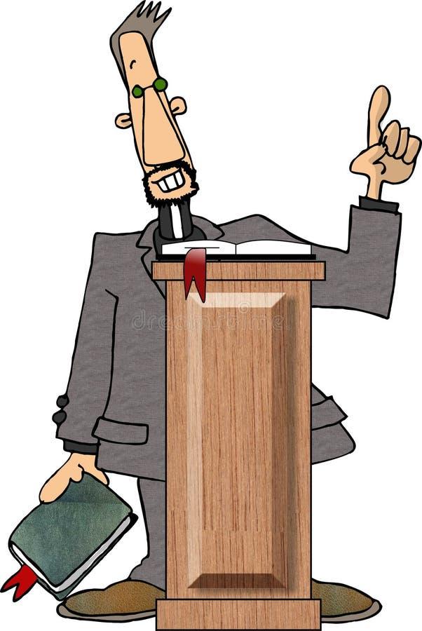 Pregador ilustração stock
