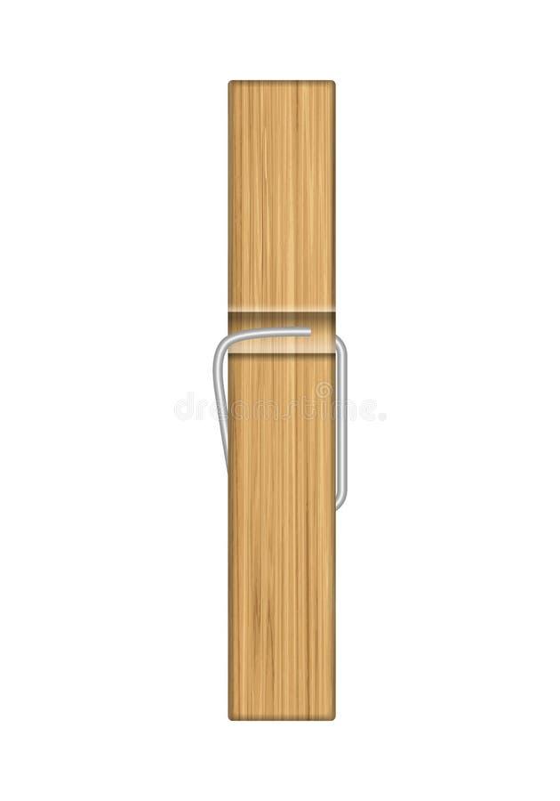 Pregador de roupa de madeira ilustração stock