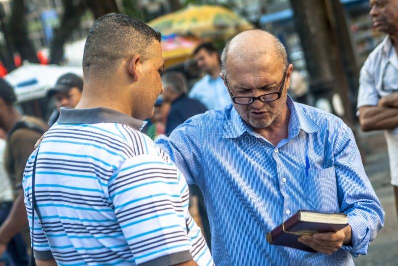 Pregador evangélico imagens de stock