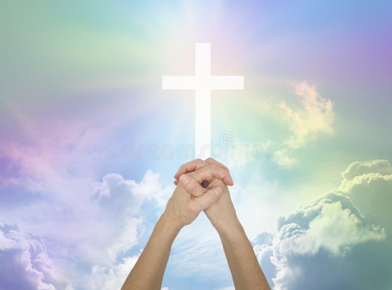 Pregando per l'assistenza divina immagini stock