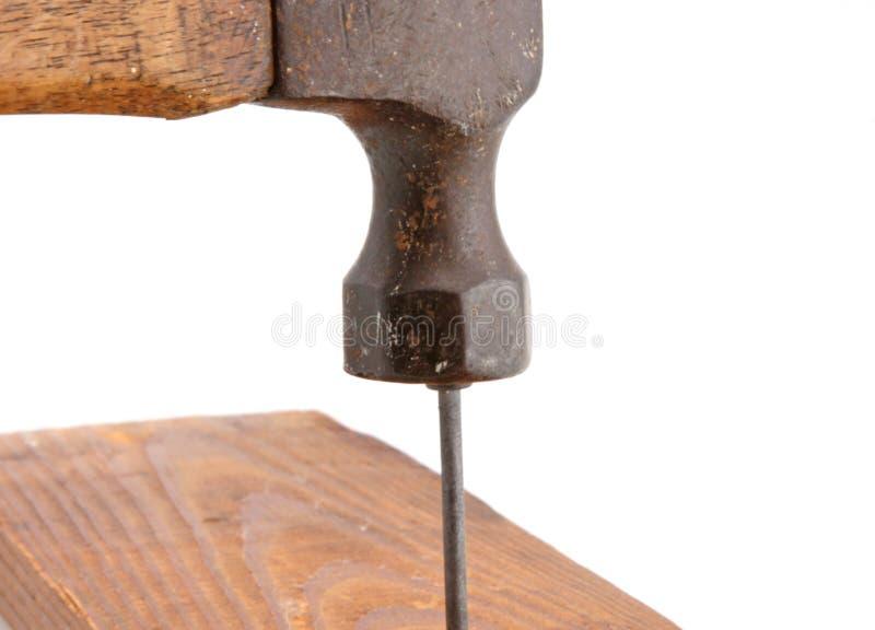 Pregar do martelo do vintage foto de stock