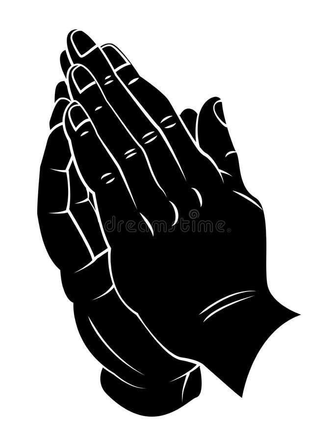 Pregare mano illustrazione vettoriale