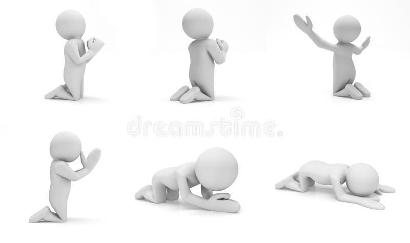 preghi illustrazione di stock