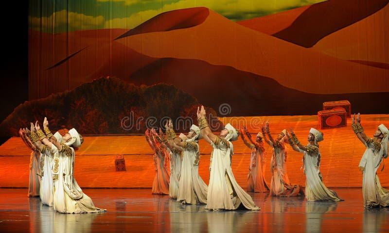 Preghi-Hui la luna di balletto del guerriero-Hui su Helan fotografie stock libere da diritti