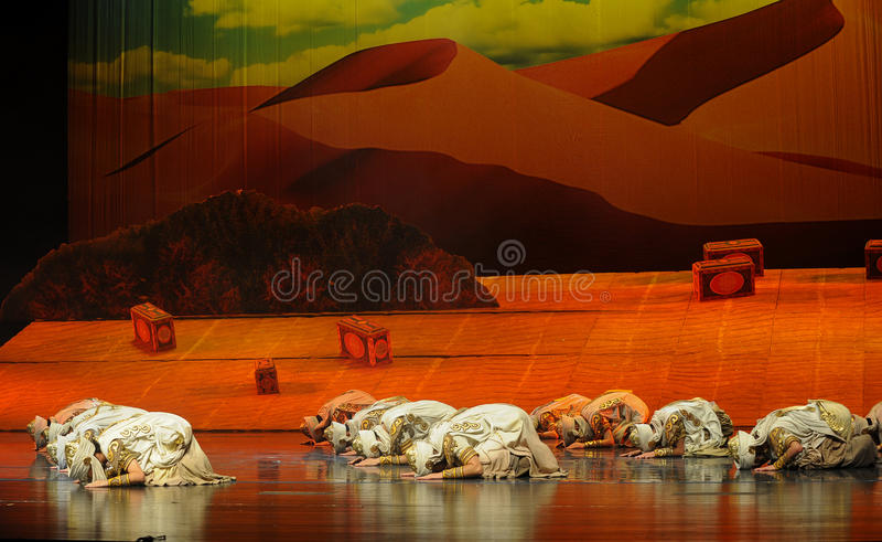 Preghi-Hui la luna di balletto del guerriero-Hui su Helan immagini stock libere da diritti