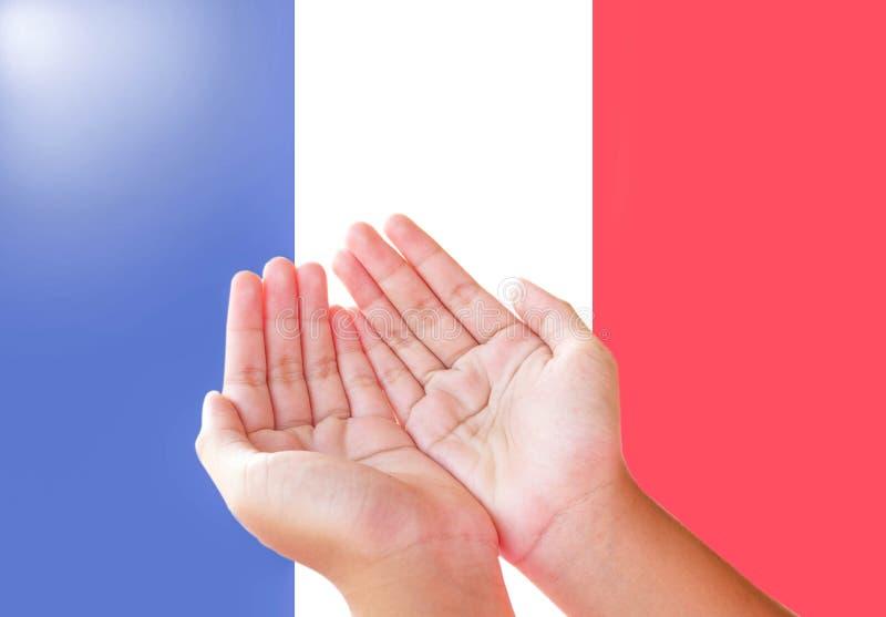 Preghi per la Francia fotografie stock libere da diritti