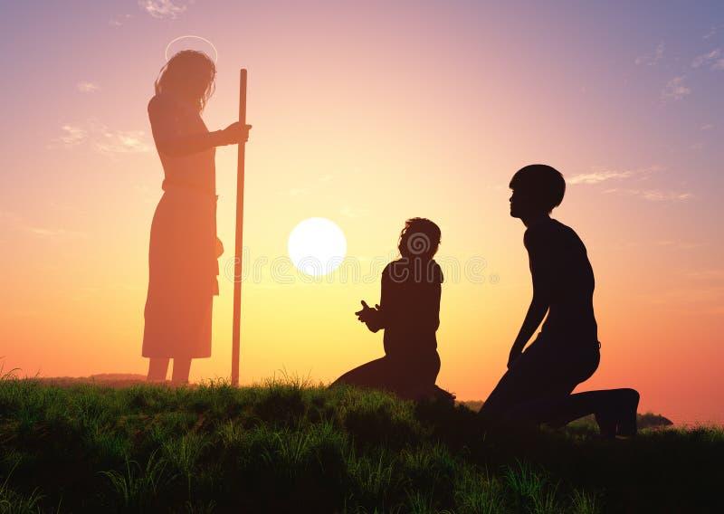 Preghiera illustrazione vettoriale