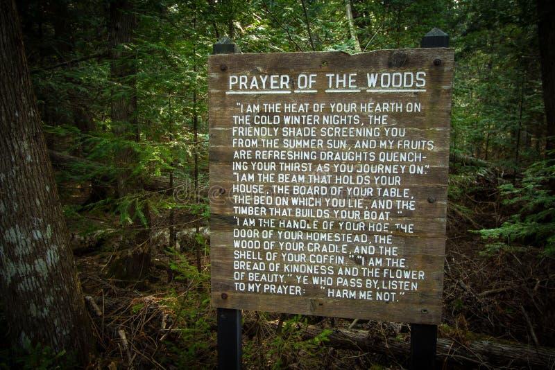 Preghiera del legno sulla traccia del nord del paese fotografie stock libere da diritti