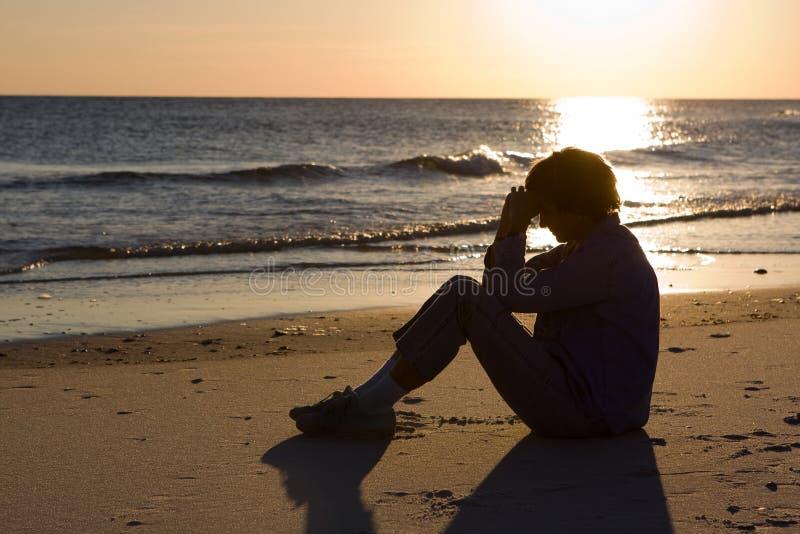 Preghiera della sera fotografie stock