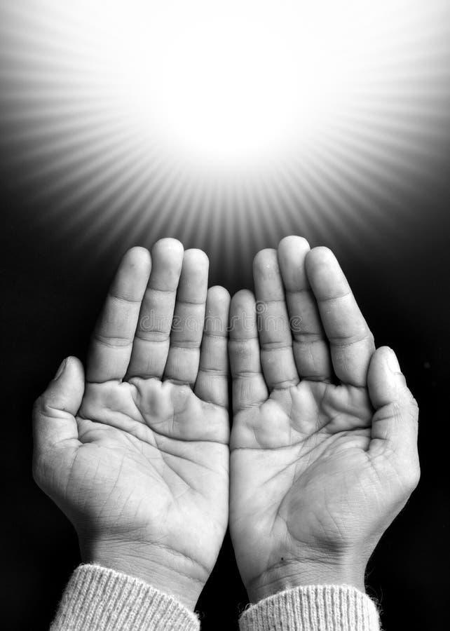 preghiera delle mani fotografie stock libere da diritti