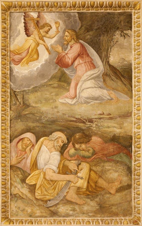 Preghiera di Gesù - di Madrid nel giardino di Gethsemane fotografie stock libere da diritti