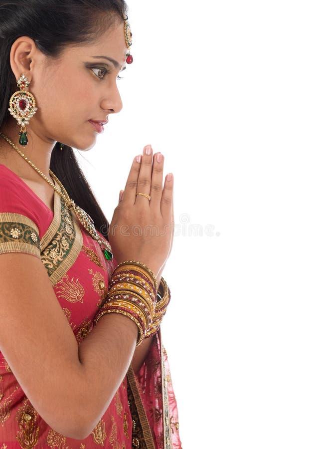 Preghiera indiana fotografia stock libera da diritti