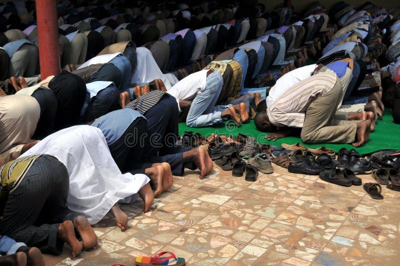 Preghiera musulmana immagine stock