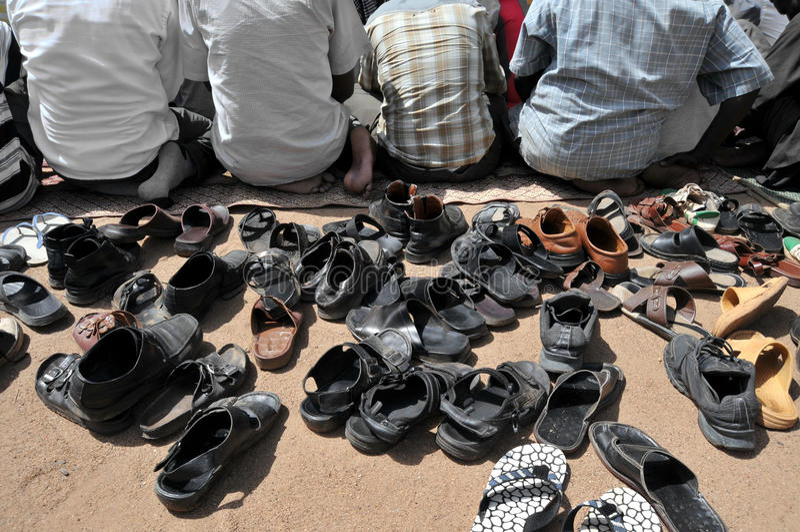Preghiera musulmana fotografia stock libera da diritti
