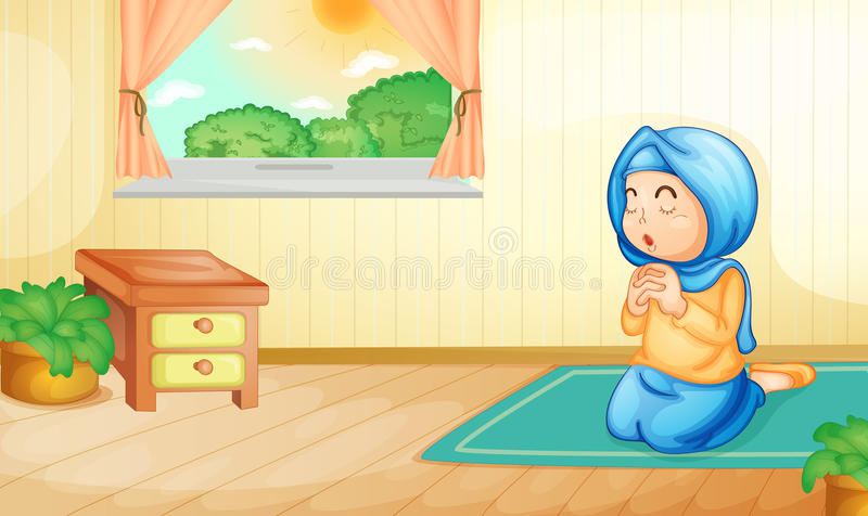 Preghiera musulmana illustrazione vettoriale