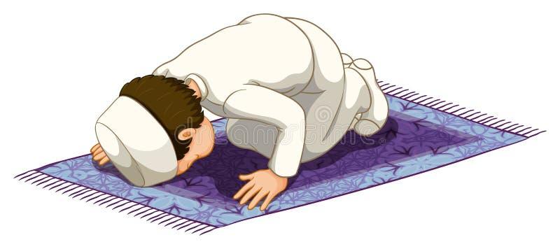 Preghiera musulmana illustrazione di stock