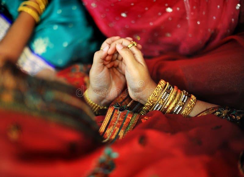 Preghiera musulmana indiana immagine stock libera da diritti