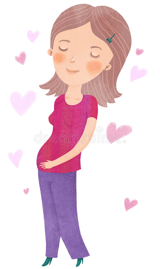 Download Pregnancy stock illustration. Image of face, cute, life - 8313823