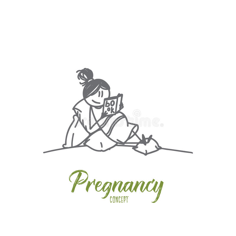Pregnancy concept. Hand drawn isolated vector vector illustration
