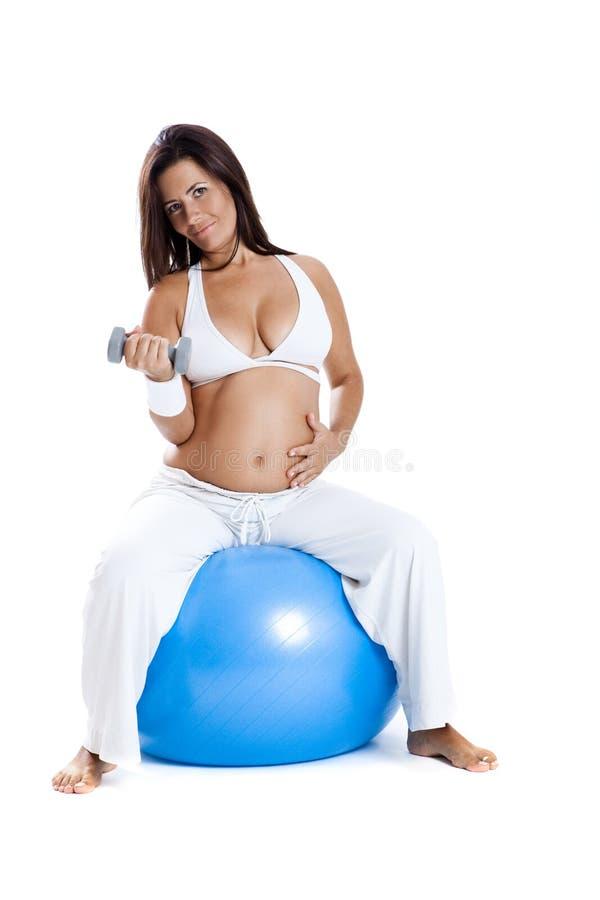 Pregnancy exercises stock photo