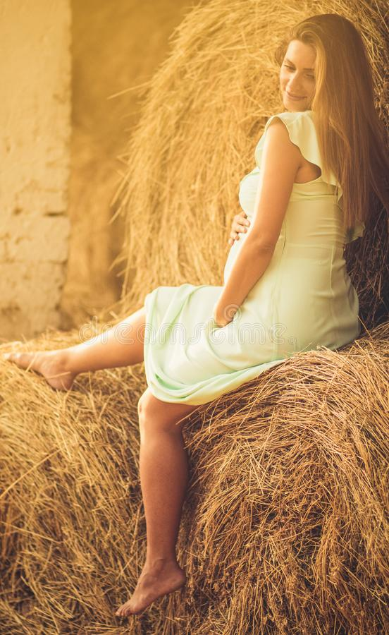 Pregnancy gives special beauty royalty free stock photo